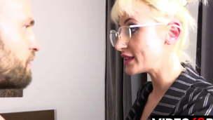 big tits blonde blowjob
